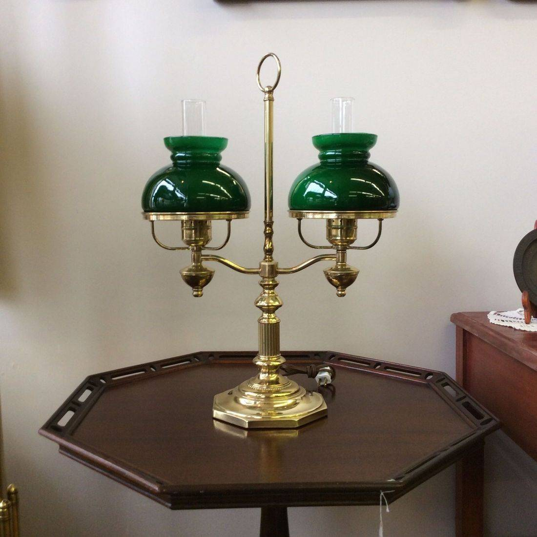 "C. 1960's/70's Brass Electric Student Lamp  20-5/8""Hgt.   $85.00"