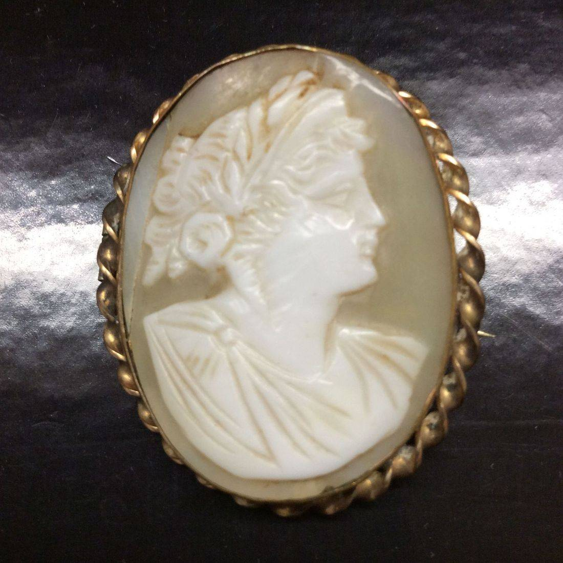 "Victorian 1-3/8"", Cameo Pin/Broach  $75.00"