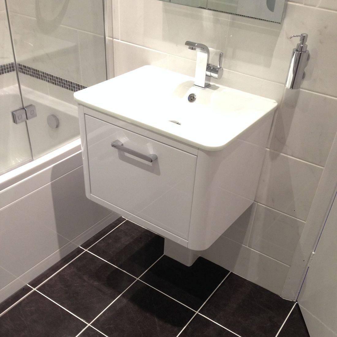 bathroom floating Sink Unit Floor Tiles