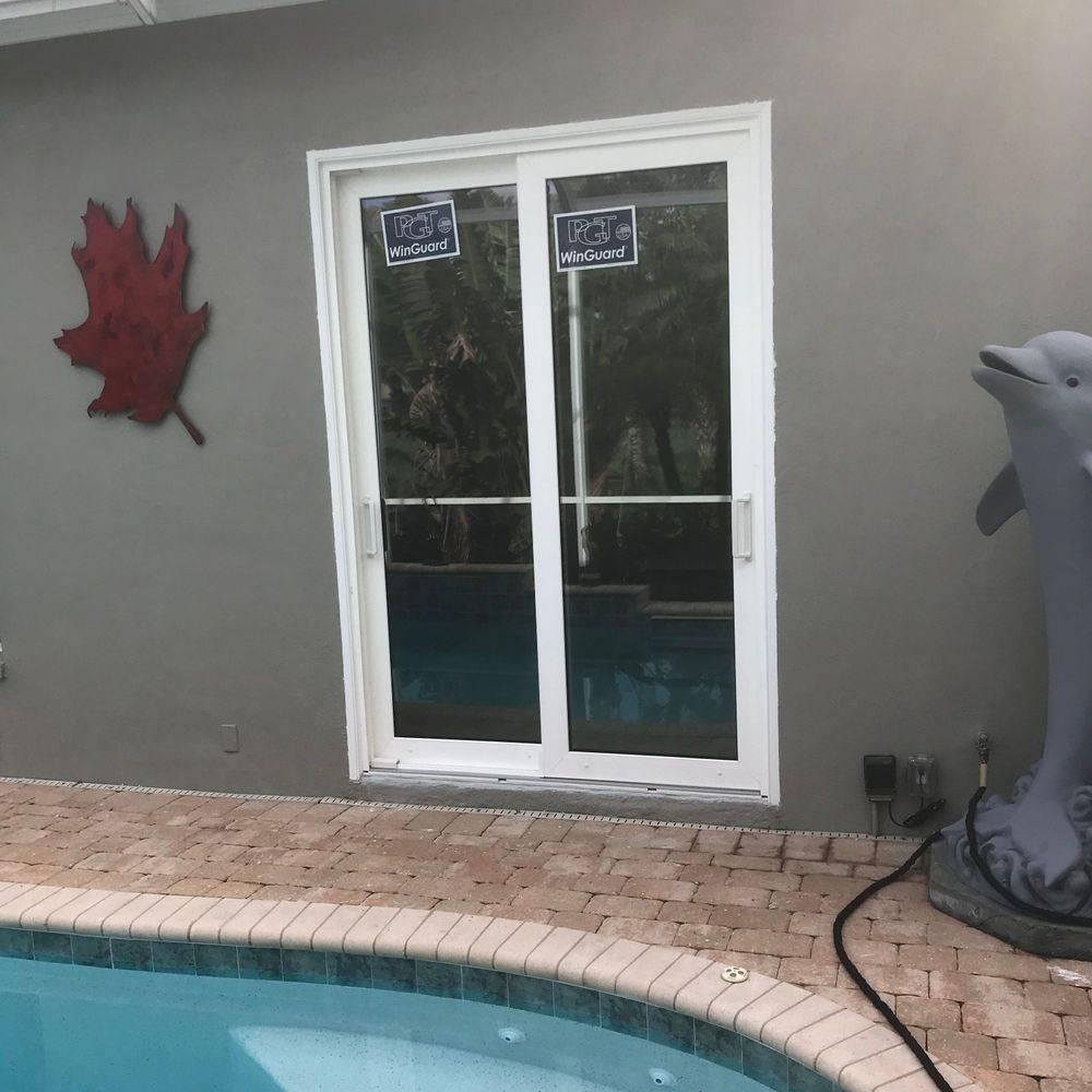new doors, pool deck, lanai, hurricane rated.
