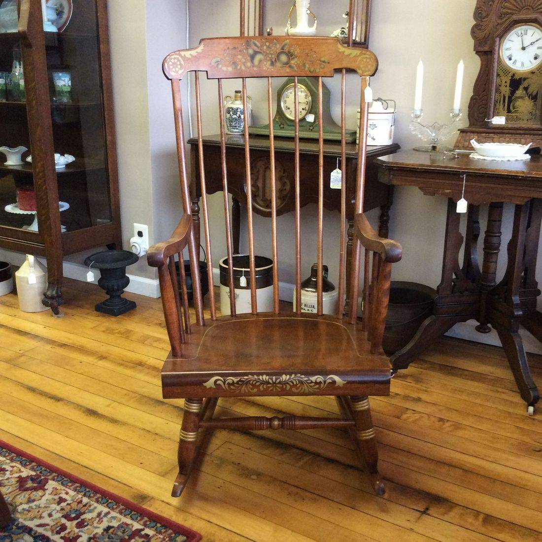 C. 1960's/70's Nichols & Stone Co. Stenciled Cherry Rocking Chair   $125.00