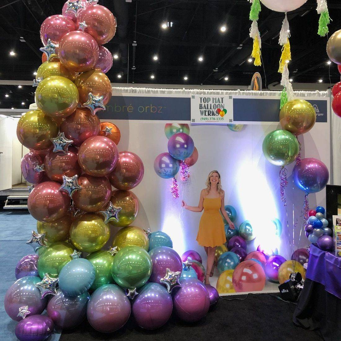 Organic Ombre Orbz Tradeshow Booth