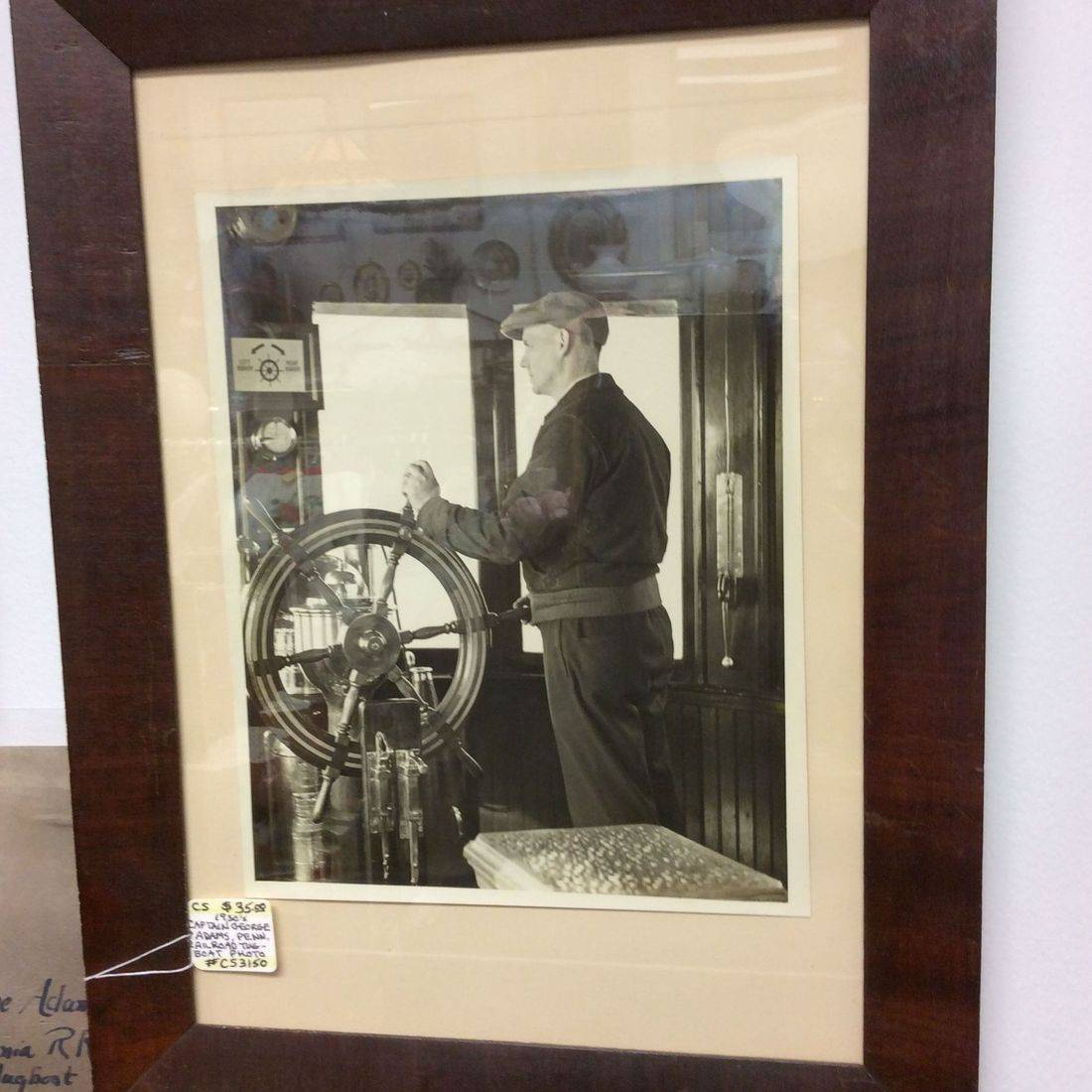 1930's Captain George Adams Penn. Railroad Lead Tugboat 'Lancaster', framed photo  $35.00