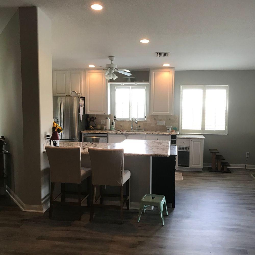 Flooring, cabinets, granite