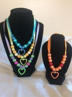 Bubble gum bead necklace,