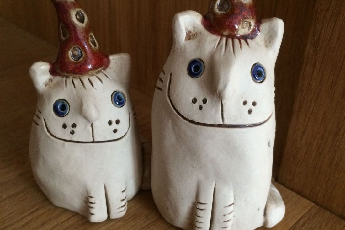 Ingrid Johannesson, Ingrid, Johannesson, clay, ceramic, colebrookestoneandclay, colebrooke,clay, cats,  kitten, cat, handcrafted, hand, crafted, happy