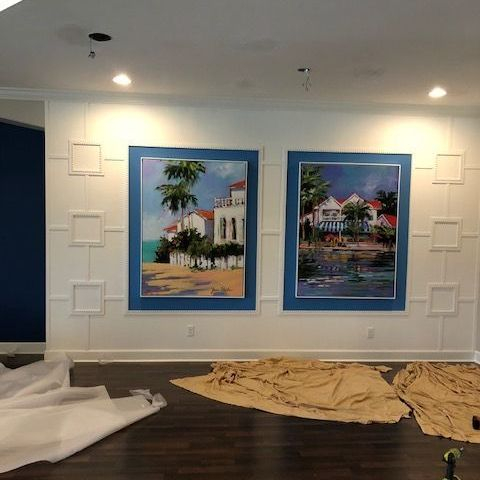 Dining trim and art