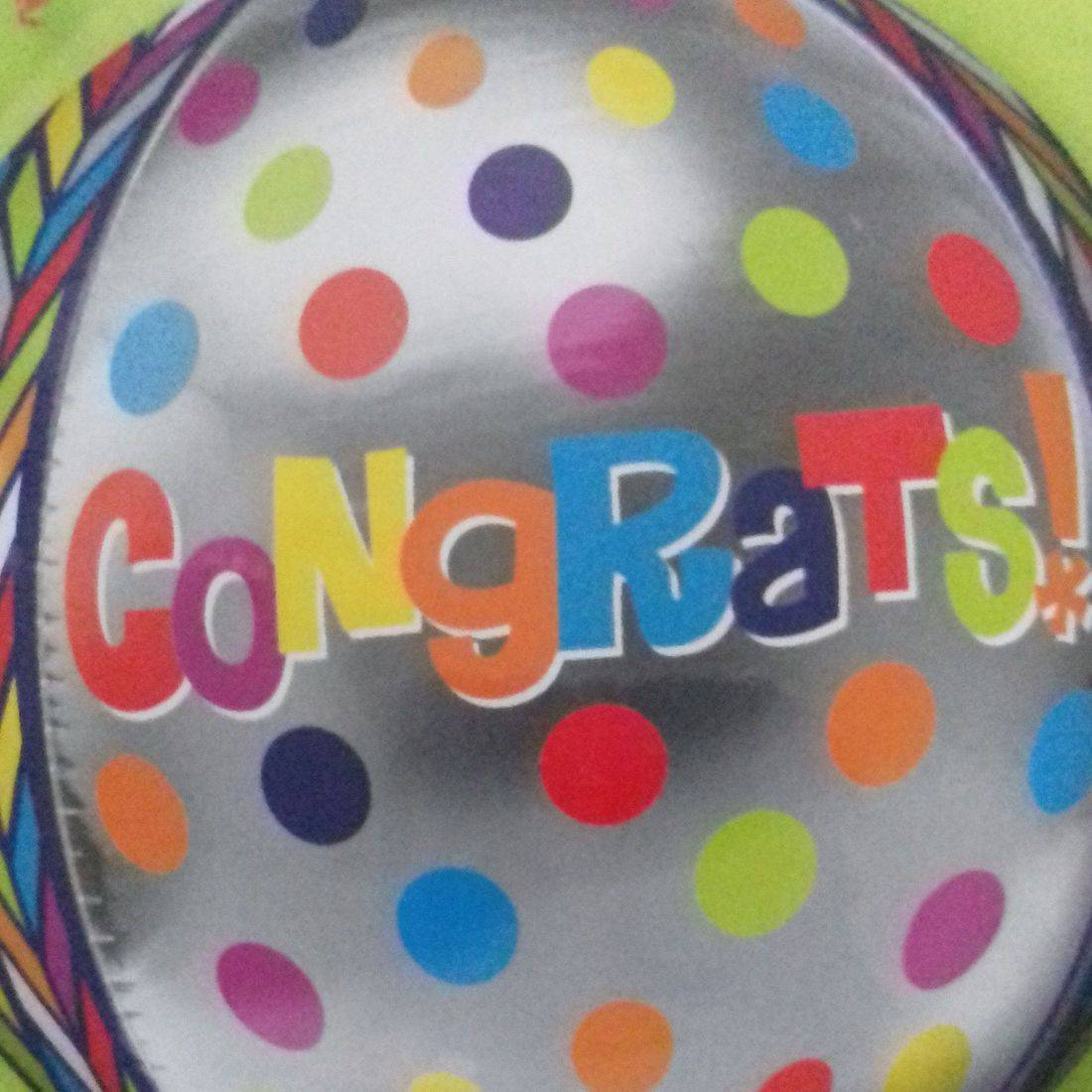 CONGRAULATIONS ORBZ BALLOON