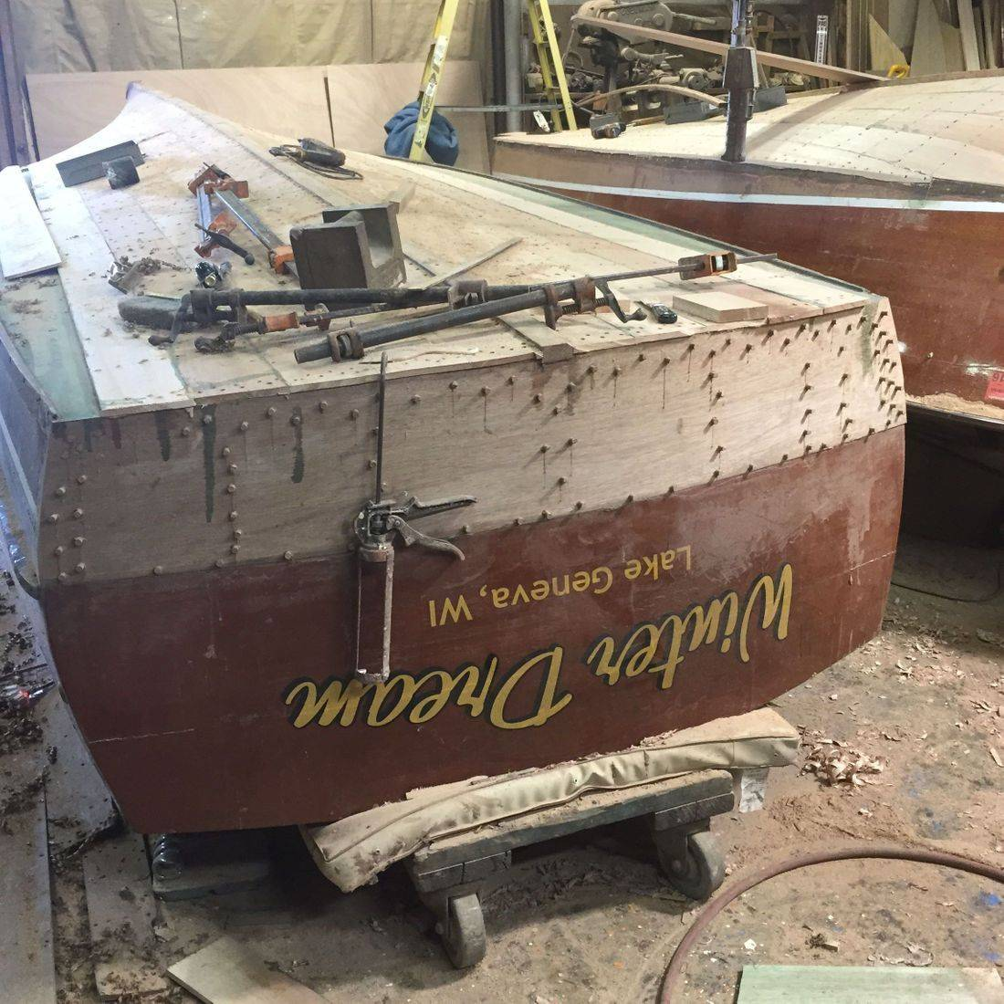 Chris Craft U-22 Bottom replacement by Bergersen Boat