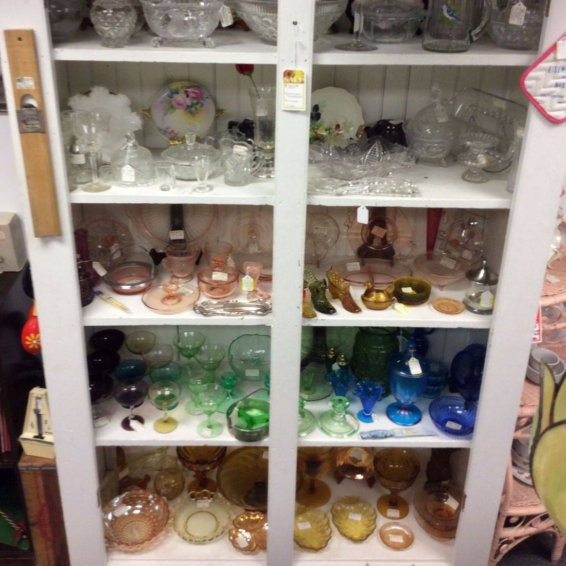 Vintage Depression Glass and Crystal Glassware  (patterns & prices vary)