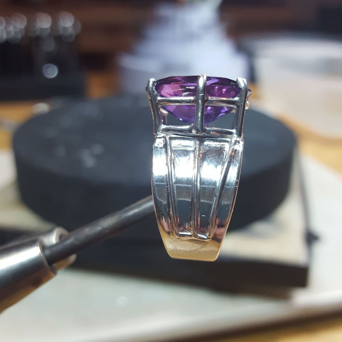 Amethyst - Custom Setting $520.00 (Sold)
