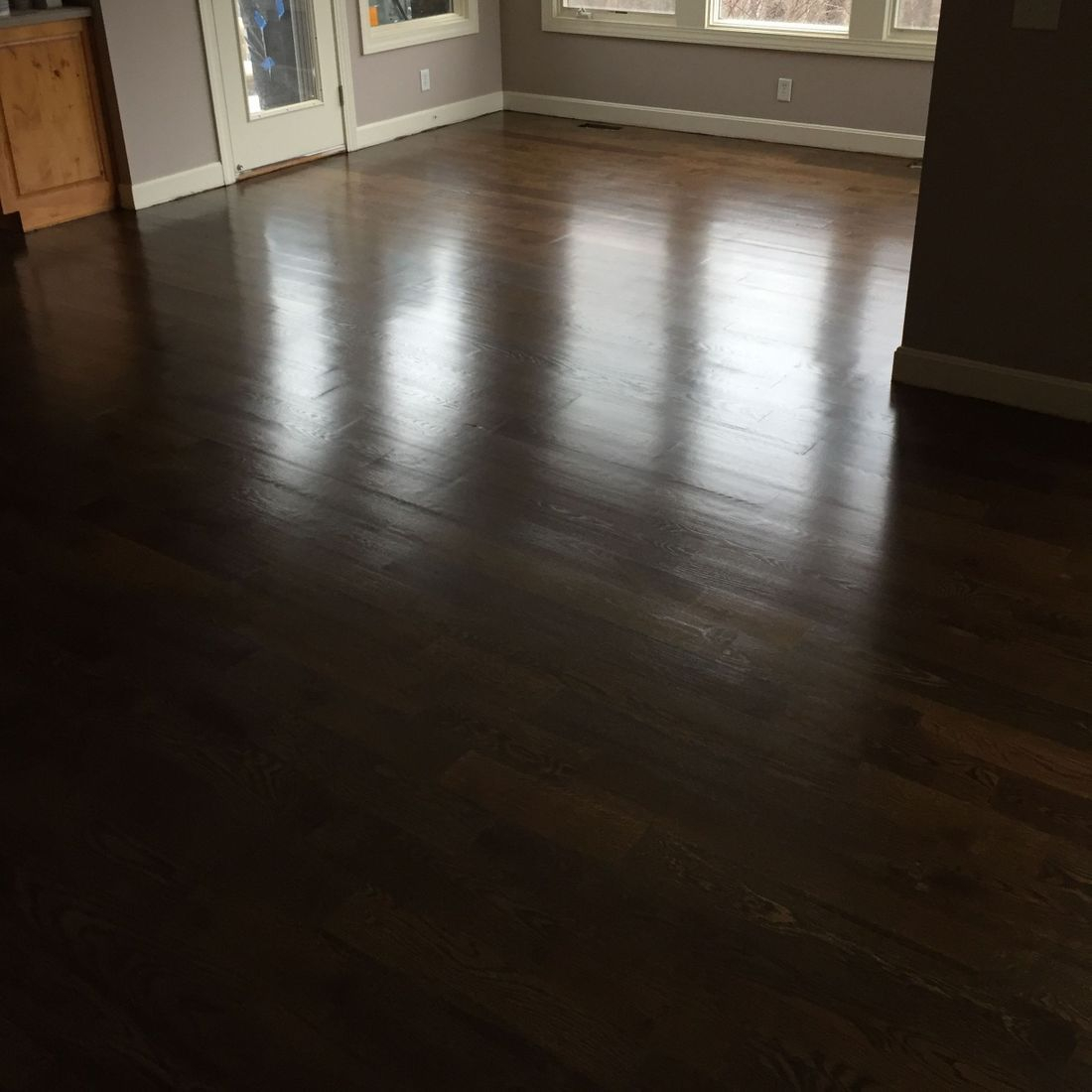 hardwood floor installation and finish