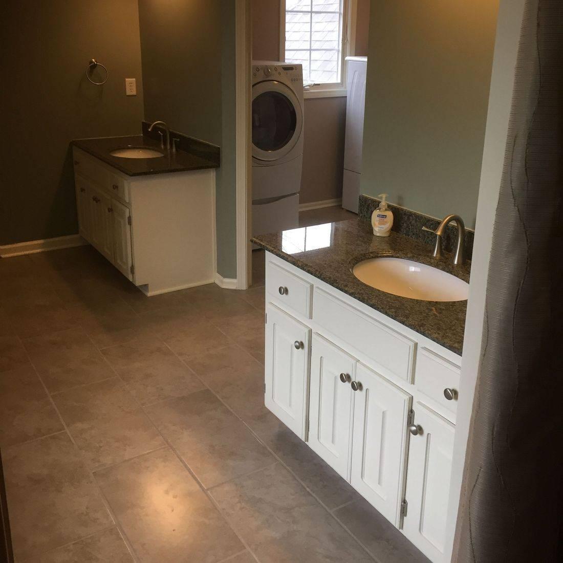 master bath remodeling + laundry