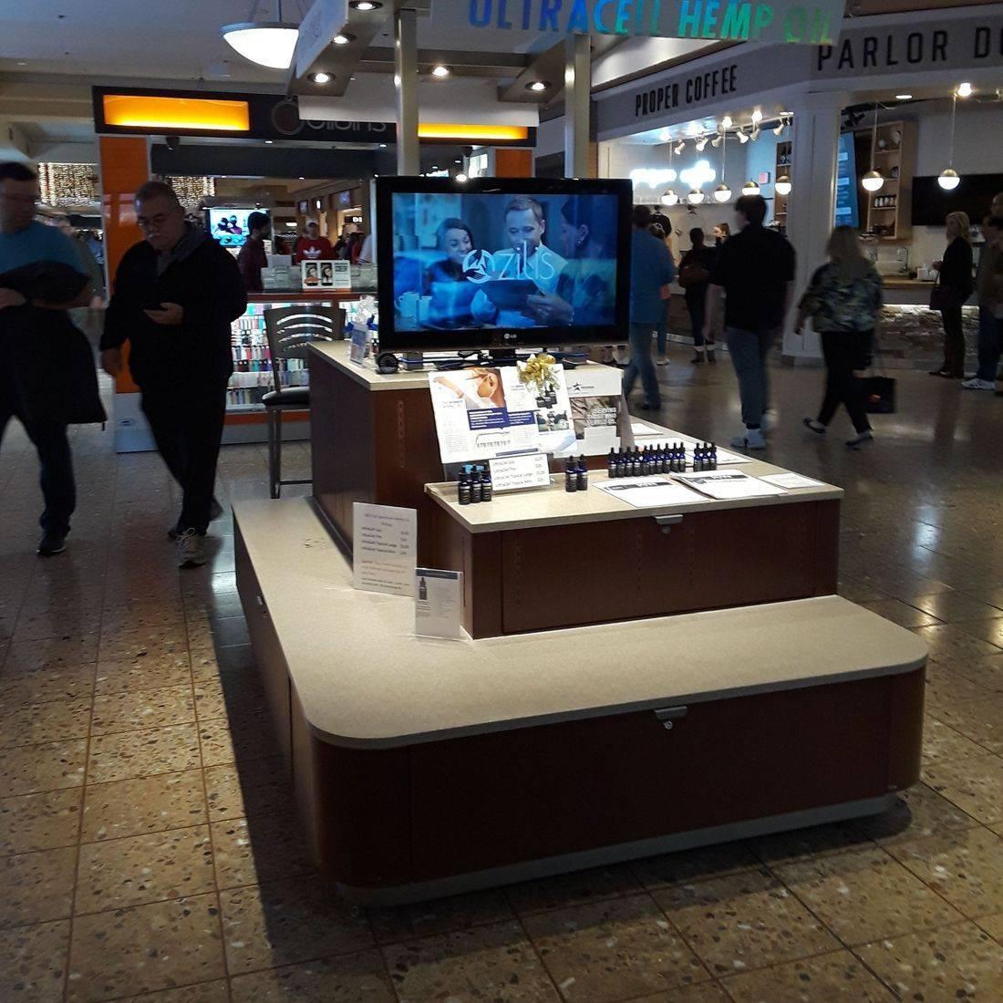 Hemp CBD Oil kiosk at the mall