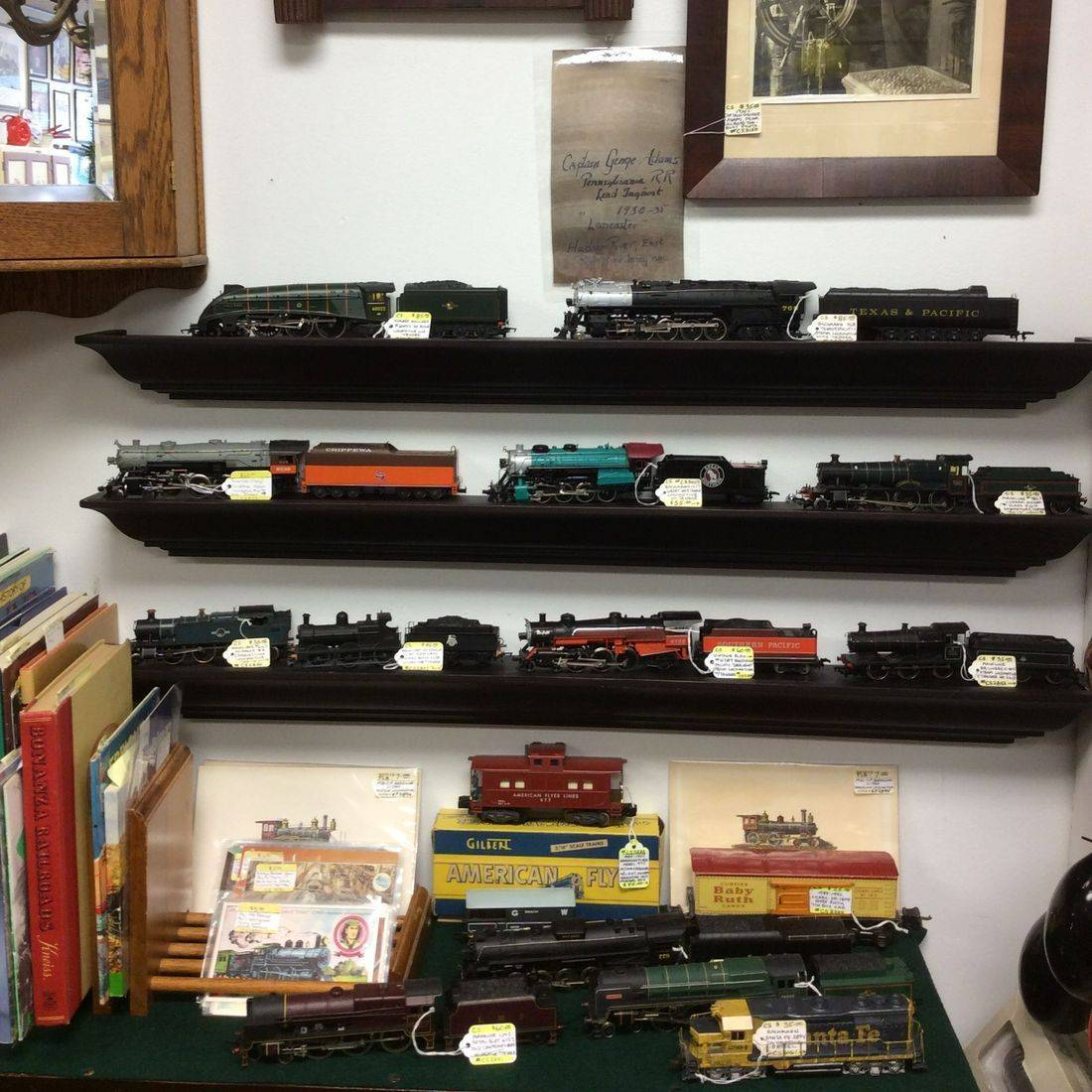 HO Scale Locomotives, Tenders, & Railway Cars - Bachmann, Rivarossi, Hornby, Mantua, Mainline, etc;  prices vary.