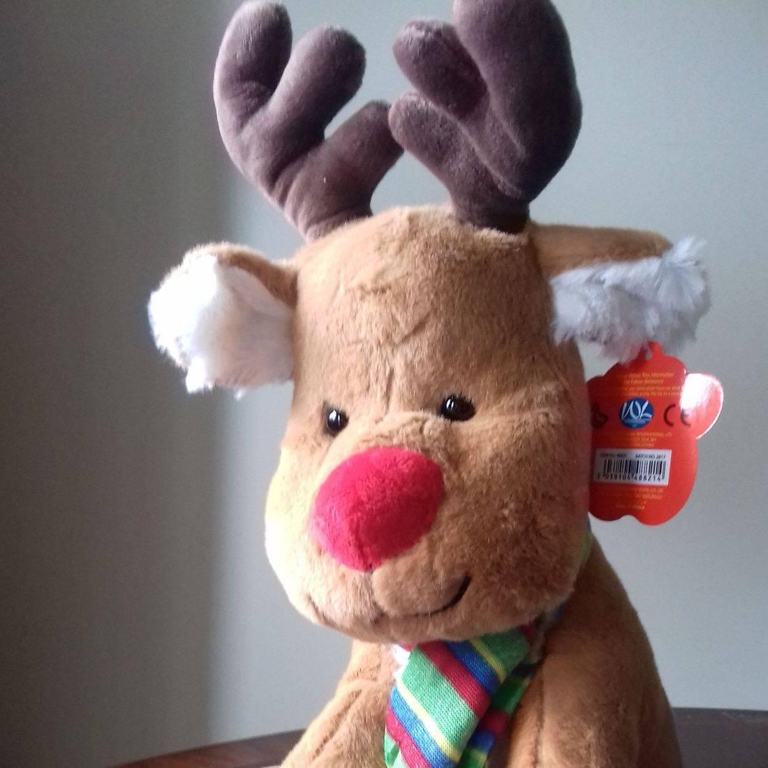 cuddly brown reindeer
