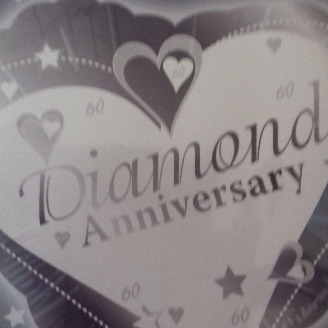 DIAMOND WEDDING ANNIVERSARY FOIL BALLOON
