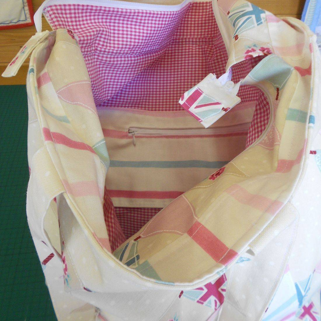 Large Bunting Beach Bag