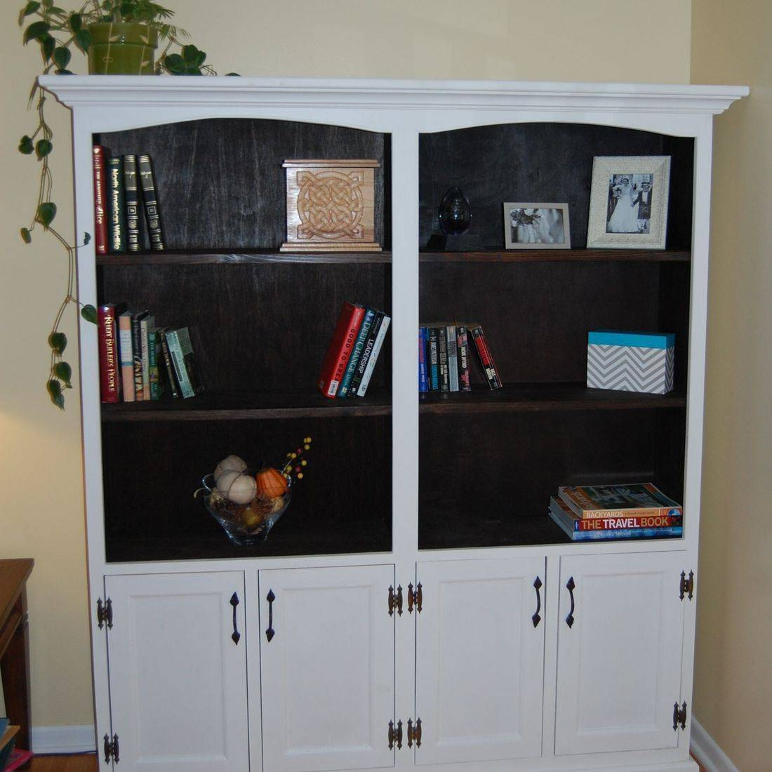 White cabinet with shelves