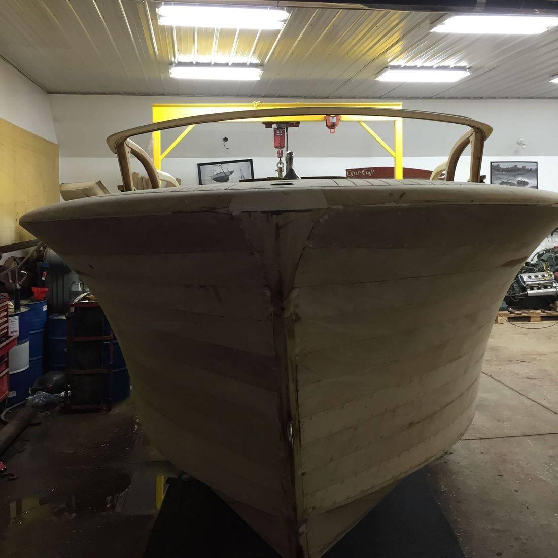 Shepherd wood boat restoration by Bergersen Boat
