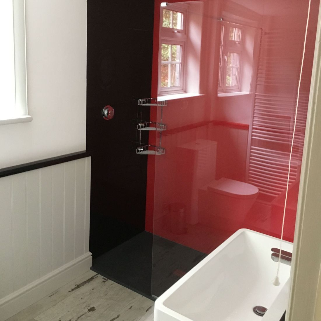 Black Red Shower Arylic Boards