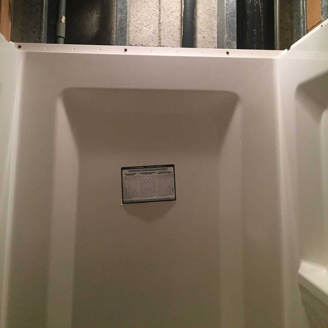 Replaced With New Shower Pan & Direct To Framing Shower Surround