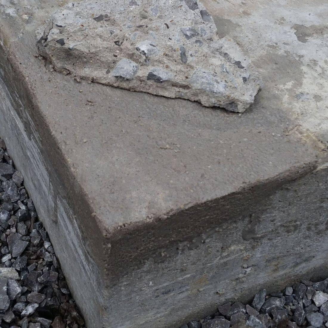 MgKrete used to permanently repair corner of sidewalk