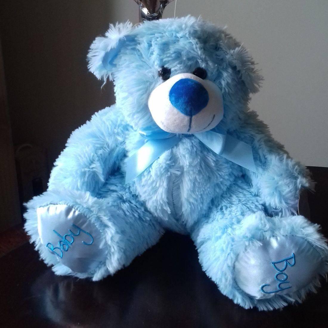 cuddly blue bear