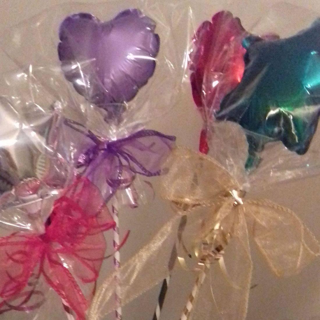 Foil heart balloon wedding wands
