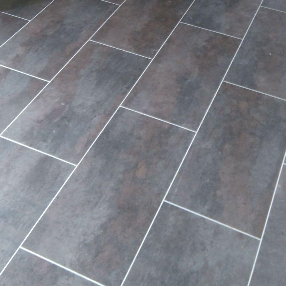 Luxury Vinyl tile, grey, kitchen, LG Hausys
