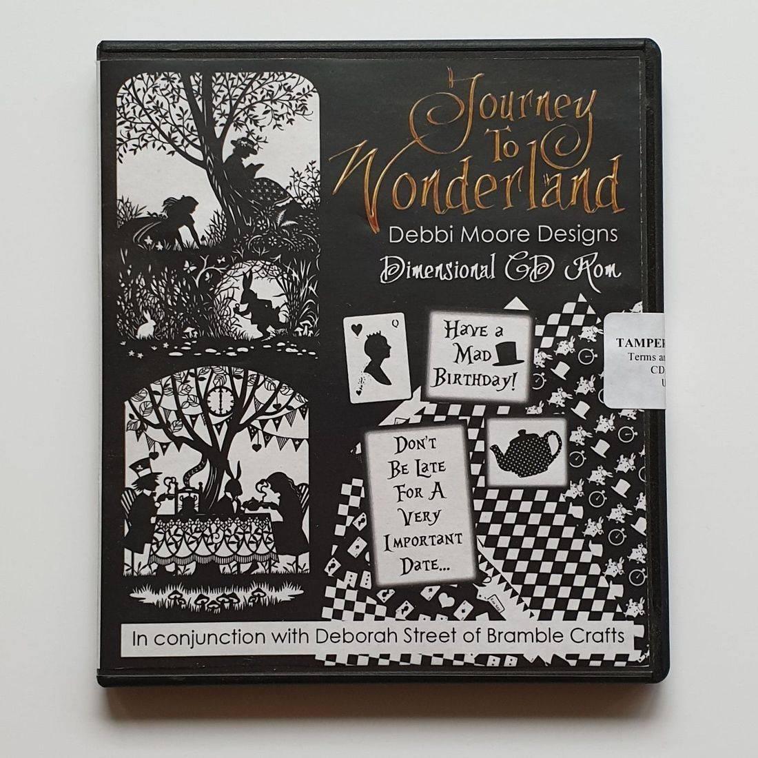 debbi moore, alice in wonderland crafting, papercraft, craft CD, bramble crafts