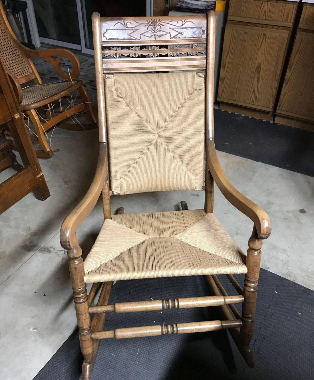 Rush Seat  and Back Weaving