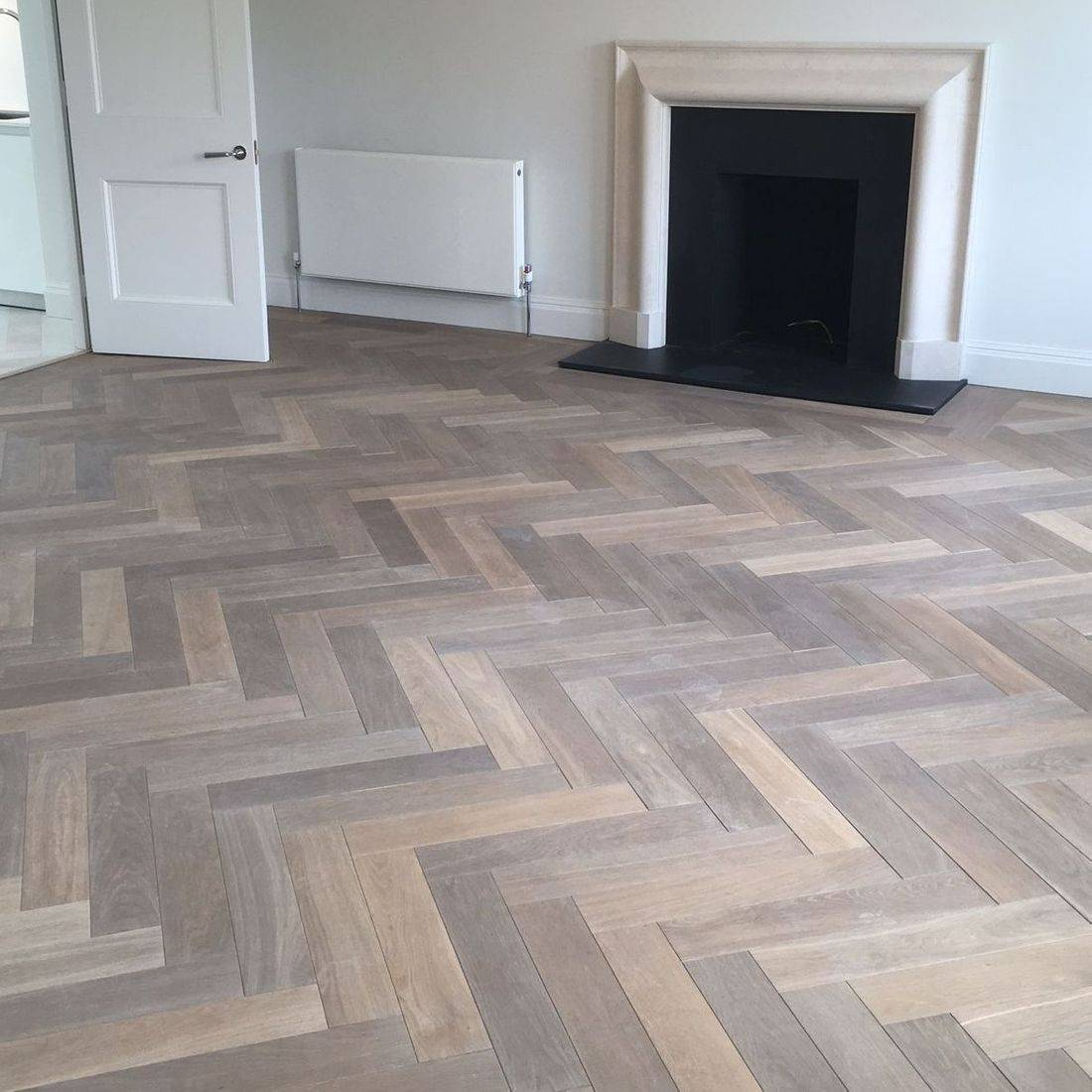Smoked & White Oiled Herringbone