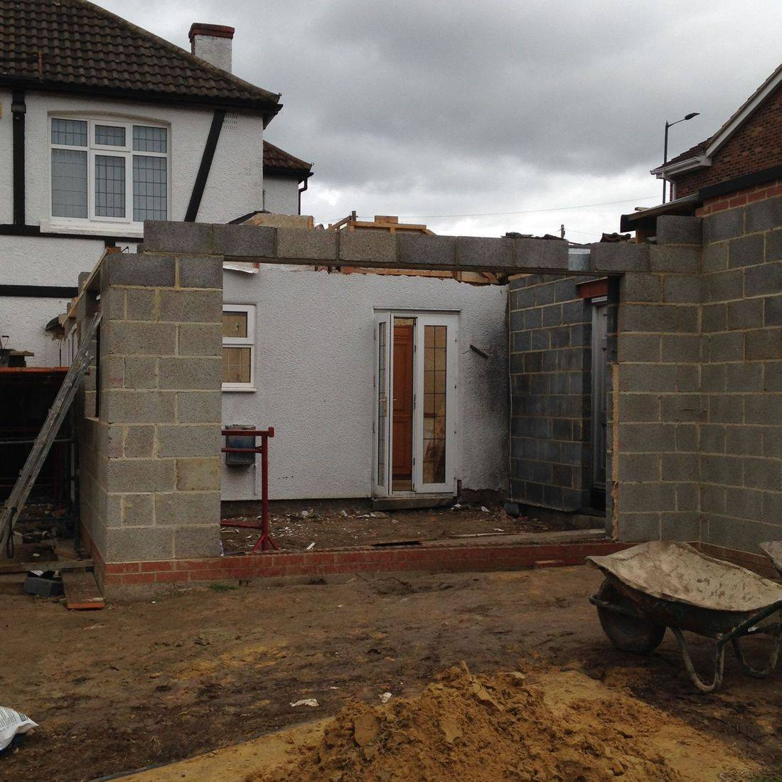 House extension in Middlesbrough with new roof