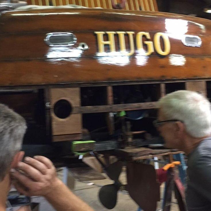 Bergersen Boat Co. replacing lower transom on Shepherd