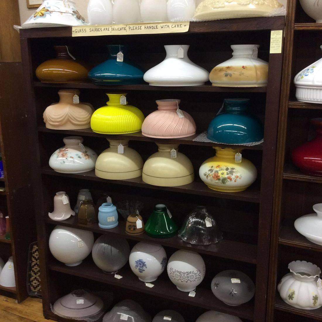 Electric, Gas and/or Oil Lamp Shades & Globes at Various Prices