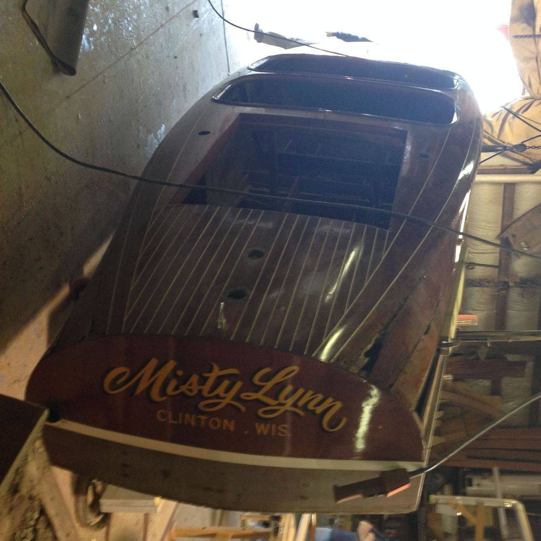 Chris Craft Barrel Back restoration by Bergersen Boat