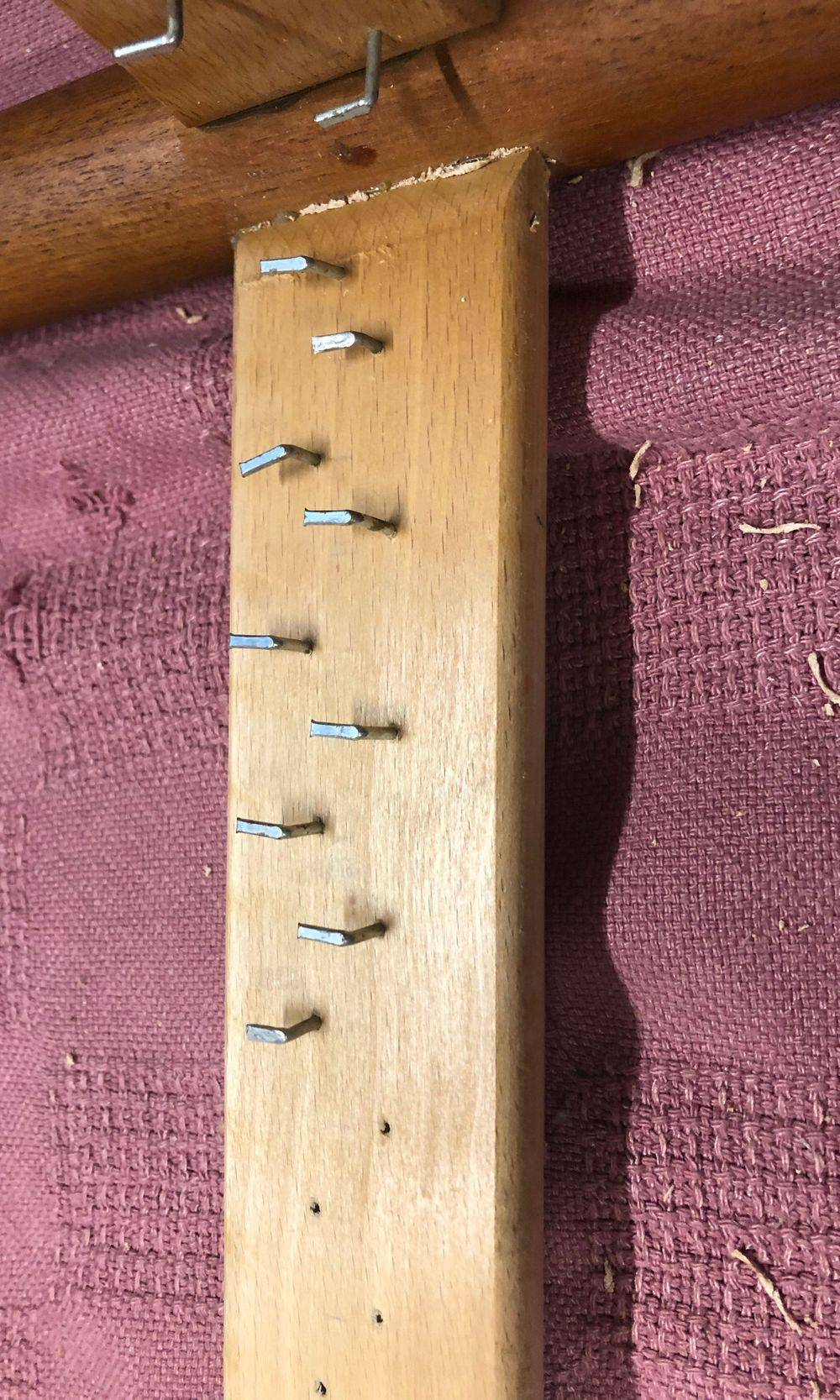 Pre-Drilled, Staggered, and Correctly Spaced Hook Nails