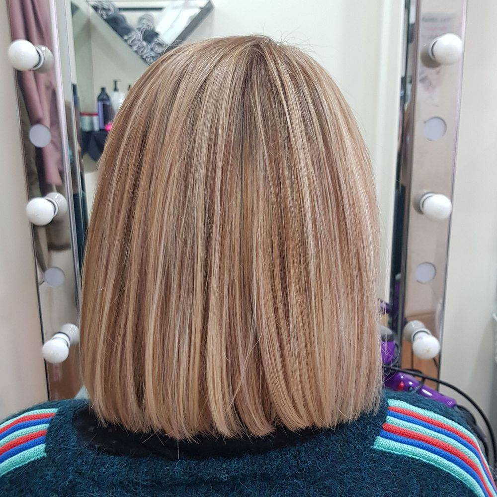 Blonde highlights Temple Holborn Strand London Hairdressers hair salon Blow dry