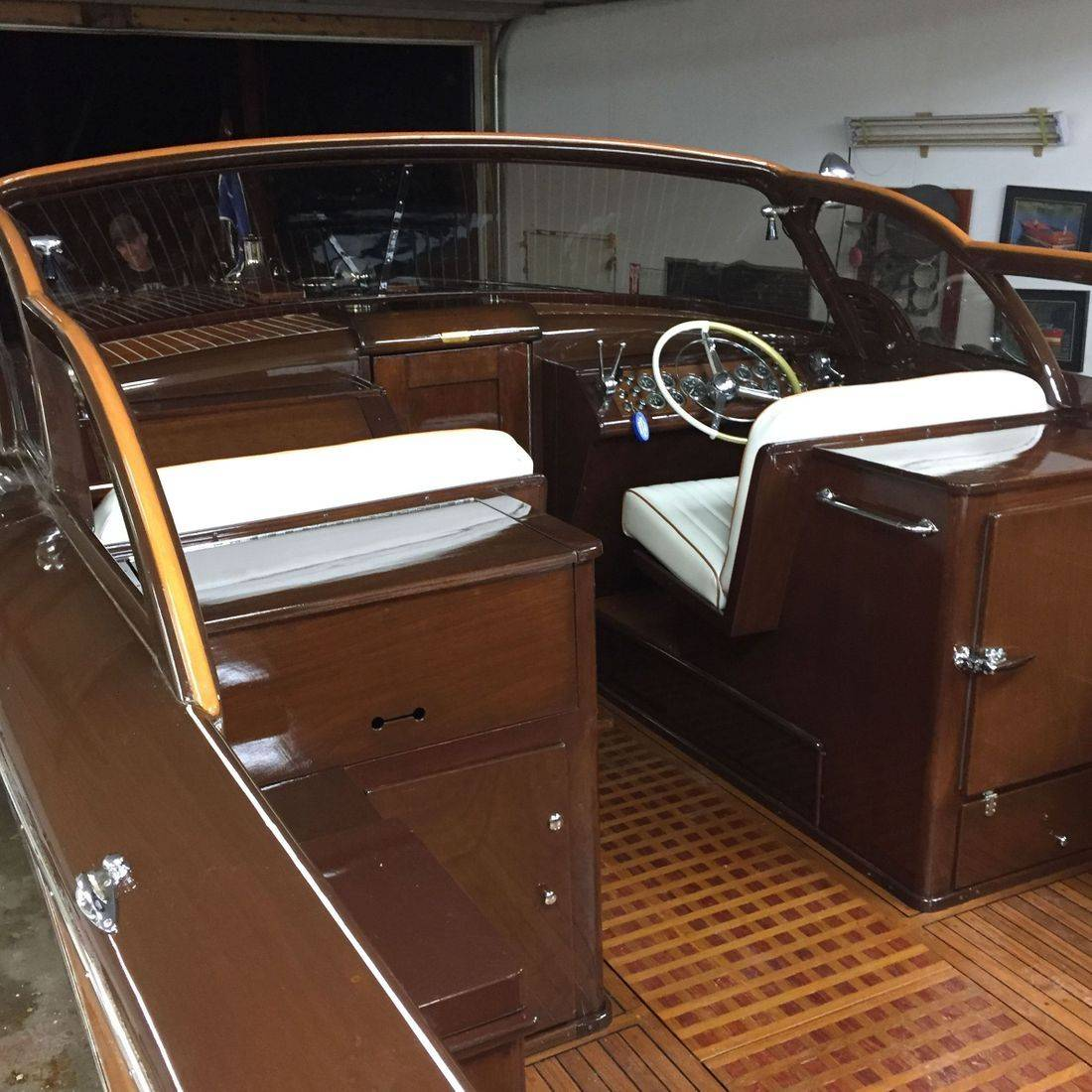 Shepherd with new upholstery by Bergersen Boat