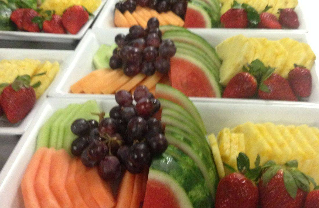 Fresh cut fruit platter