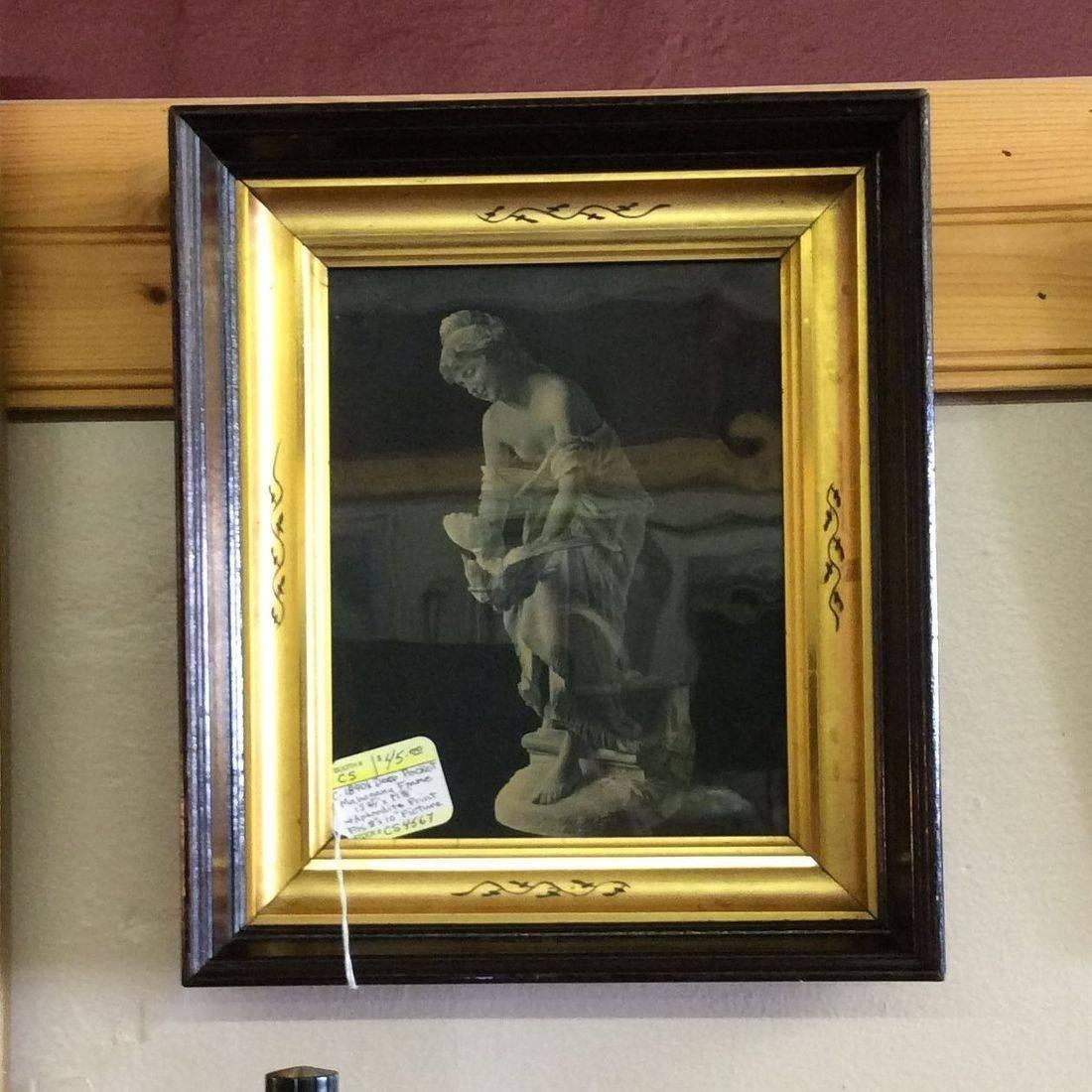 "C. 1890's Deep Pocket Frame w/Aphrodite Print  13-3/4"" x 11-7/8""  fits 8"" x 10"" pic.  $45.00"