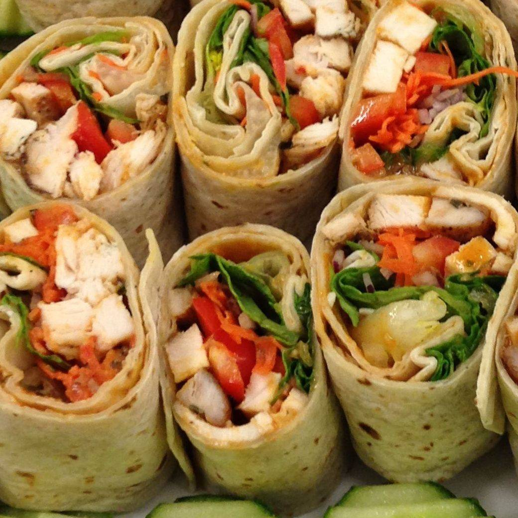 Deli platter catering and sandwich wraps