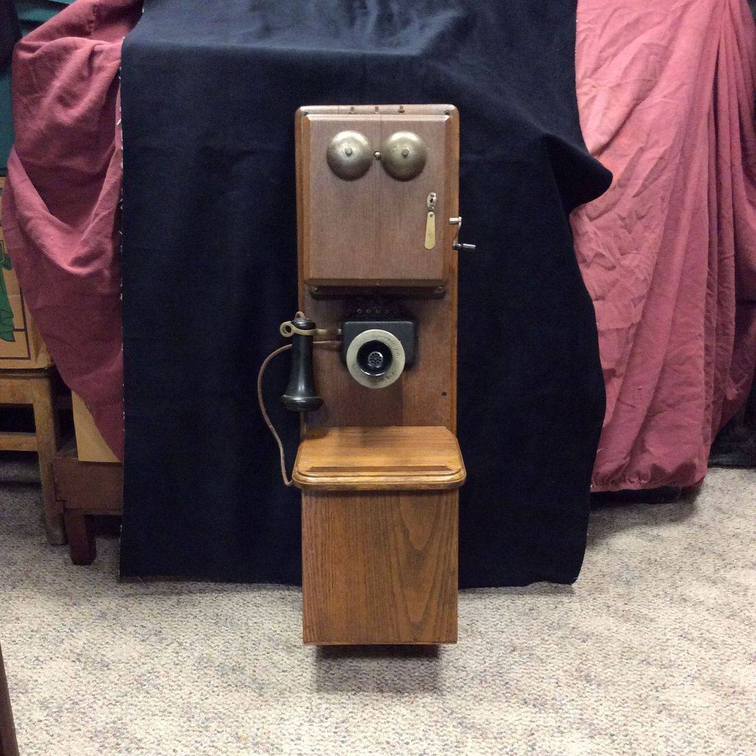 Early 1900's Leich Electric Co., Double Box, Crank Wall Phone   $350.00