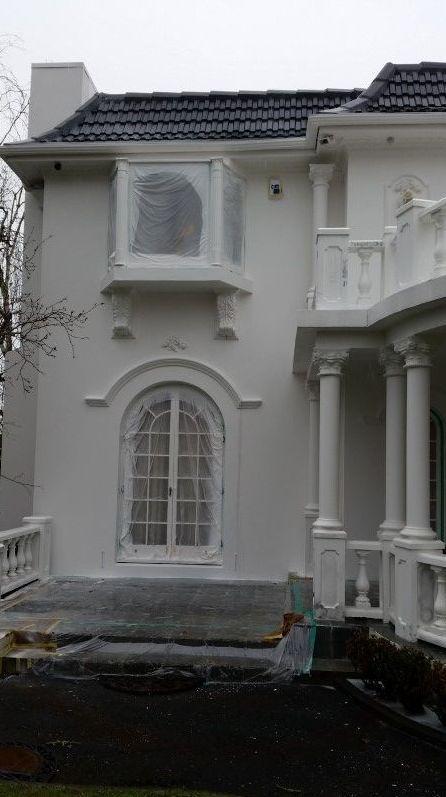 Plaster house repaint