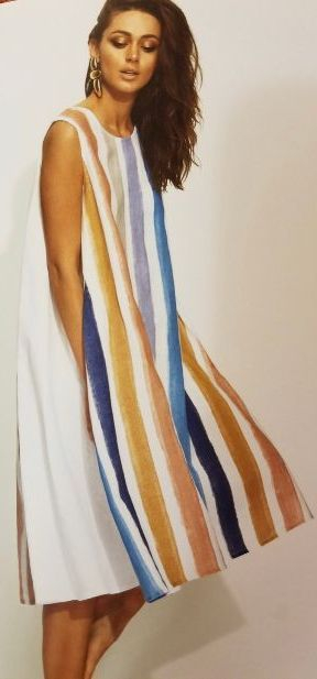Multi-color Stripe dress