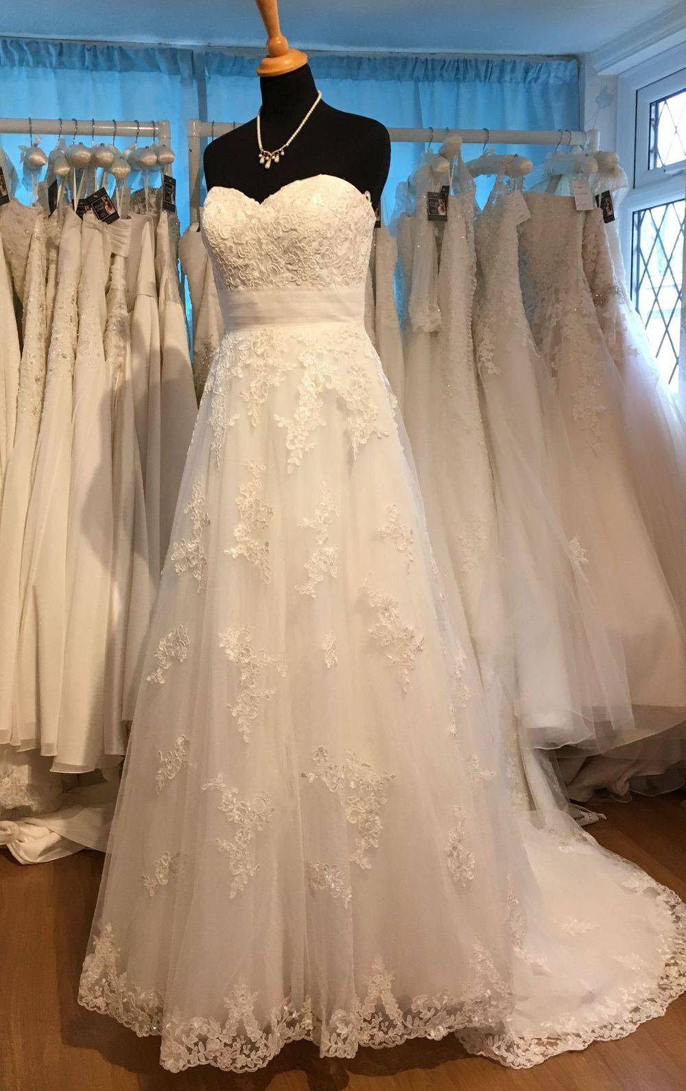 Plus size lace wedding dress size 22