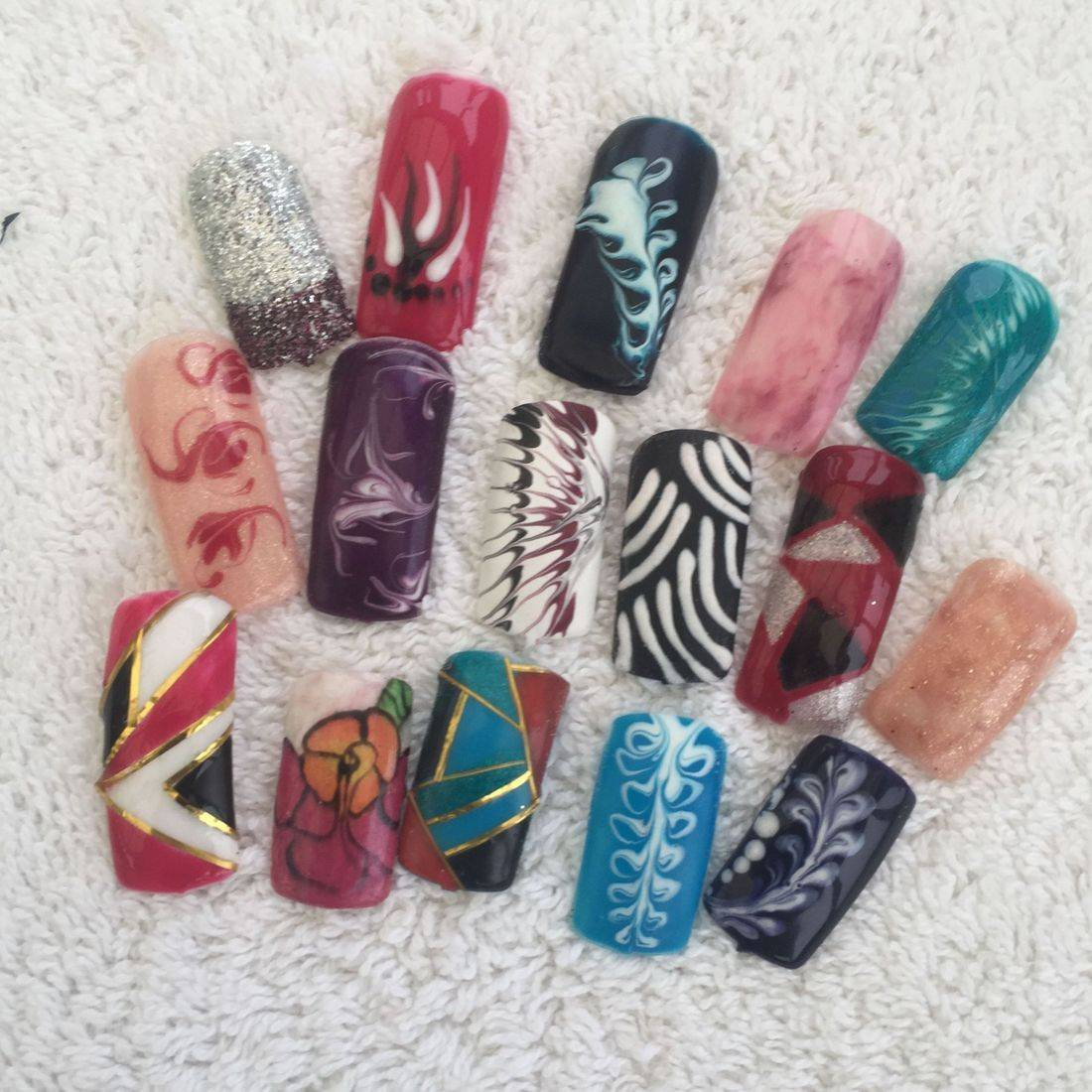 Nails done on Nail Art Course