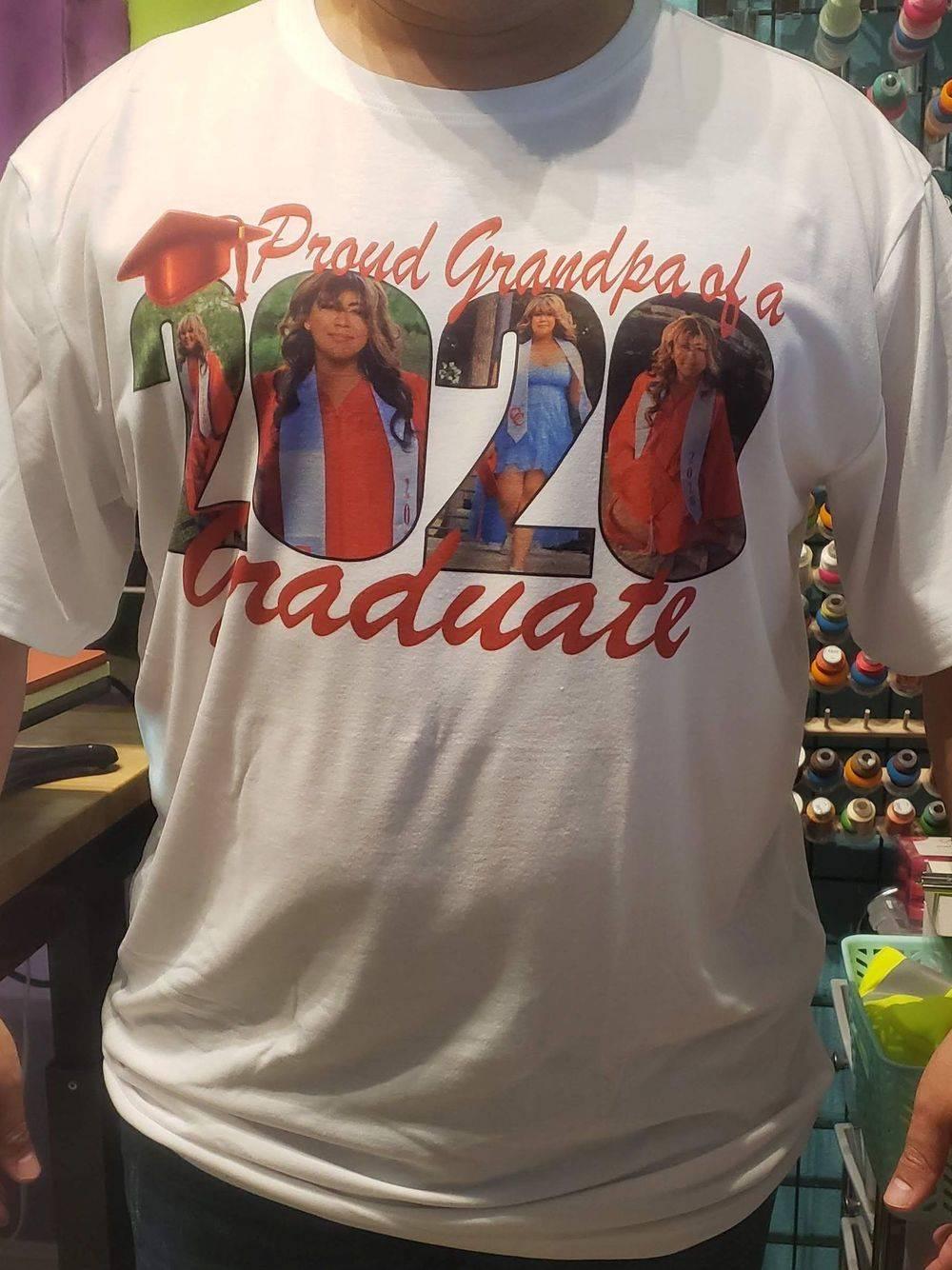 Sublimation on T-Shirt Seniors 2020